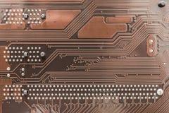 Textura y pernos de la placa de circuito Foto de archivo libre de regalías