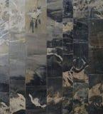 Textural bakgrund av tegelplattor för stenvägg Royaltyfri Bild
