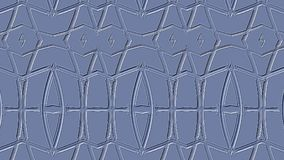 Textural blue background. Embossed pattern from geometric stripes. Royalty Free Stock Image