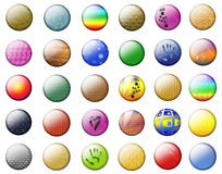 Textural Multicolored buttons Stock Photo