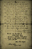 Textural old Letter Stock Images