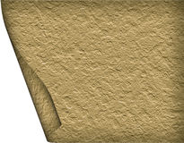 Textural old paper roll Stock Image