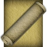 Textural old paper roll Royalty Free Stock Images