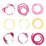 Textural prints red and white Wine stain Stock Photo