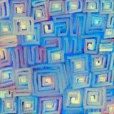 Textural suddig bakgrund av mjuka kul?ra lutninglinjer av att r?ra sig i spiral p? en fyrkant Digital abstraktionillustration stock illustrationer