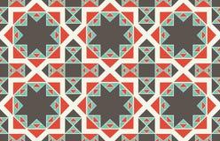 Texturas étnicas inconsútiles del modelo Impresión geométrica de Navajo abstracto Colores grises y anaranjados Imagen de archivo