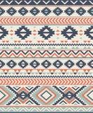 Texturas étnicas inconsútiles del modelo Impresión geométrica de Navajo abstracto Colores grises y anaranjados Fotografía de archivo libre de regalías