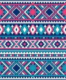 Texturas étnicas sem emenda do teste padrão Cores cor-de-rosa e azuis Imagem de Stock