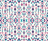 Texturas étnicas sem emenda do teste padrão Cores cor-de-rosa e azuis Foto de Stock