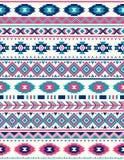 Texturas étnicas sem emenda do teste padrão Cores cor-de-rosa e azuis Imagens de Stock