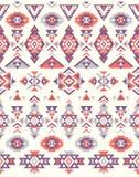 Texturas étnicas sem emenda do teste padrão Teste padrão do nativo americano Cores de Orange&Purple Imagens de Stock Royalty Free
