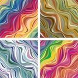 Texturas abstractas con las líneas onduladas Imagenes de archivo
