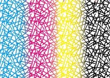 Texturas abstratas do fundo do teste padrão de CMYK ilustração royalty free