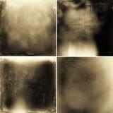 Texturas abstratas do grunge do sepia Foto de Stock