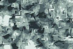 Texturas abstratas do grunge do zen com testes padrões florais para o fundo ilustração stock