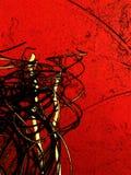 Texturas abstratas vermelhas, amarelas, pretas do fundo Imagem de Stock