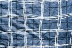 Texturas azules del paño Foto de archivo