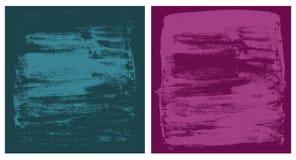 Texturas cianas do vetor e cor-de-rosa escuras do grunge Foto de Stock