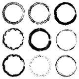 Texturas circulares do quadro ajustadas ilustração do vetor