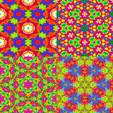 4 texturas coloridas Imagen de archivo libre de regalías
