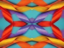 Texturas coloridas das fitas do cetim Fotografia de Stock Royalty Free