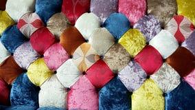 Texturas coloridas do sofá de pano de veludo Fotografia de Stock