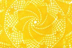 Texturas coloridas feitas crochê com a linha, feito a mão Fotografia de Stock Royalty Free