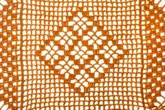 Texturas coloridas feitas crochê com a linha, feito a mão Imagem de Stock
