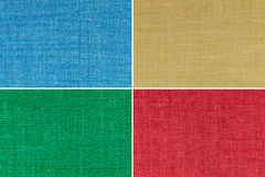 Texturas coloridos ajustadas Fotografia de Stock
