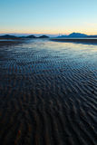 Texturas da areia em Pantai Puteri, Sarawak Imagem de Stock Royalty Free