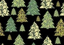 Texturas da camuflagem do Natal ilustração royalty free
