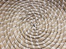 Texturas da cesta acenada do staw imagens de stock royalty free