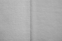 Texturas da cor cinzenta da tela e do couro imagens de stock