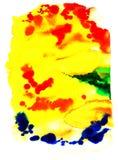 Texturas da cor de água Ilustração Stock