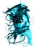 Texturas da cor de água Foto de Stock