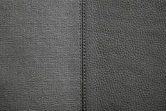 Texturas da cor preta da tela e do couro Imagem de Stock Royalty Free