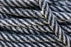Texturas da corda fotografia de stock