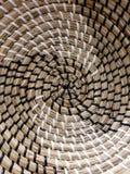 Texturas da hélice da cesta acenada do staw fotos de stock royalty free