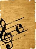 Texturas da melodia do Grunge Imagens de Stock