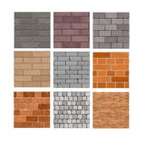 Texturas da parede de tijolo Foto de Stock Royalty Free