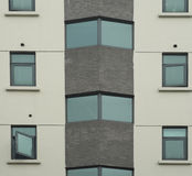 Texturas da parede exterior do prédio de escritórios Fotos de Stock Royalty Free