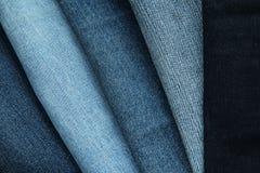 Texturas da sarja de Nimes Fotos de Stock