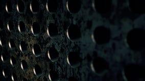 Texturas de aço do círculo do metal Contexto da corrosão Fotografia de Stock