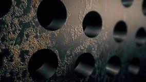 Texturas de aço do círculo do metal Contexto da corrosão ilustração stock