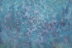 Texturas de Aqua Blue Cement Wall Backgrounds Imagens de Stock