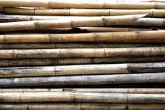 Texturas de bambú de los troncos Imagenes de archivo