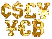 Texturas de decaimiento de la muestra de moneda del moho stock de ilustración