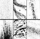 Texturas de Grunge fijadas Imagen de archivo