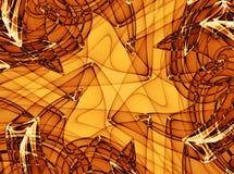 Texturas de Grunge no amarelo ilustração royalty free