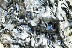 Texturas de la lava negra (pahoehoe) en la isla de Santiago Fotografía de archivo